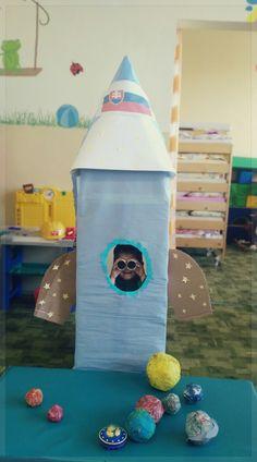 Tall carton rocket