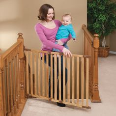 Angle Mount Wood Safeway Safety Gate Oak by Kidco Wooden Gates, Wooden Stairs, Child Safety Gates, Kids Gate, Stair Gate, Baby Gates, Dog Gates, Pet Gate, Montgomery Ward