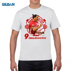 GILDAN funny men t shirt t-shirt Zlantan Ibrahimovic  Old Trafford Premier League Sweden Champions for 100% cotton jersey fans