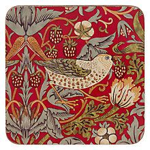 Buy Sanderson for Pimpernel William Morris Strawberry Thief Coasters, Red, Set of 6 Online at johnlewis.com