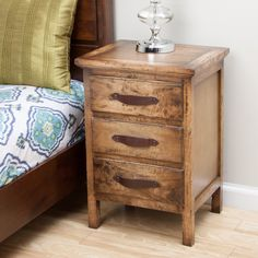 Nakati Rustic Night Stand (Indonesia) - Overstock™ Shopping - Top Rated Nightstands
