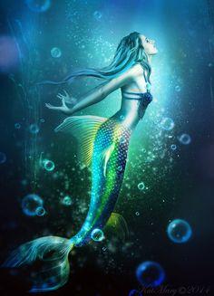 Mermaid by katmary on DeviantArt Mermaid Cave, Siren Mermaid, Mermaid Fairy, Mermaid Artwork, Mermaid Drawings, Mermaid Tattoos, Mermaid Paintings, Fantasy Mermaids, Mermaids And Mermen