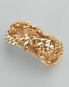 Cara Accessories Multi-Chain Bracelet - Neiman Marcus