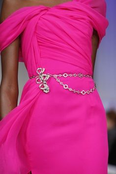 ♥ the color of the dress, want! belt too..