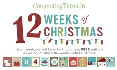 Count down to Christmas with us with a new FREE pattern each week. #12WOC