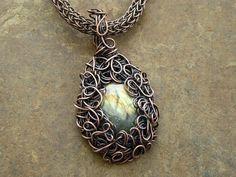 Labradorite Pendant Labradorite Necklace by LadearJewellery