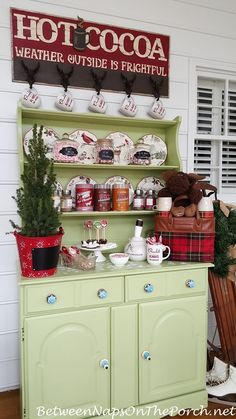Create a Hot Chocolate Bar for Winter Entertaining by Between Naps on the Porch.