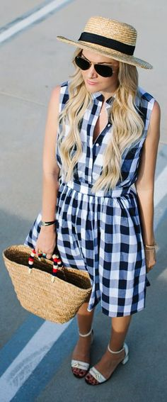 Gingham Check Print Little Dress by A Little Dash Of Darling