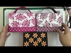 Gorgeous!! Double Fold Flap Handbag Card Gift Set Tutorial, Stampin Up Fresh Florals - YouTube