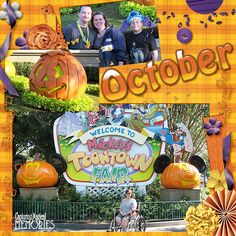 Disney Halloween page layout by using Boo to You Digital Kit by Capturing Magical Memories #DisneyScrapbooking #DisneyMemories (http://www.capturingmagicalmemories.com/2012/09/new-release-boo-to-you-digital-kit-2/)