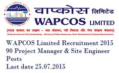 WAPCOS Limited Recruitment 2015