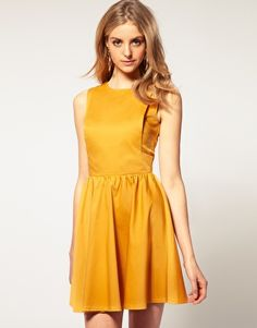ASOS Skater Dress with Open Back -- On Sale for $25.16 (Also comes in White)