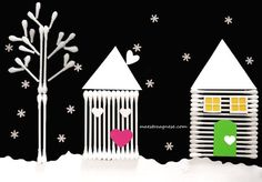 Lavoretti per l'inverno Diy Crafts For Kids Easy, Winter Crafts For Kids, Easy Christmas Crafts, Paper Crafts For Kids, Craft Activities For Kids, Christmas Activities, Art For Kids, Diy Paper, Winter Art