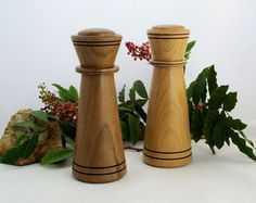 Salt and Pepper Mill Set in Walnut and Alder Woods by Woodistry, $110.00. These salt and pepper grinders feature Danish Crushgrind ceramic mechanisms.