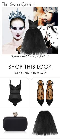 """""""Screen Style: Black Swan"""" by s246 ❤ liked on Polyvore featuring Topshop, Aquazzura, Alexander McQueen, Ballet Beautiful, GetTheLook, film, polyvorefashion and screenstyle"""