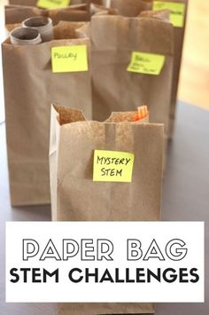 Paper Bag STEM Challenges Week for Screen Free Fun with Kids! , Paper Bag STEM Challenges Week for Screen Free Fun with Kids! Paper bag STEM challenges week of STEM activities for kids Paper bag STEM challenges wee. Stem Science, Science For Kids, Life Science, Science Gifts, Science Week, Summer Science, Ks2 Science, Science Chemistry, Physical Science