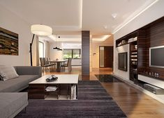 Projekt domu Korso 2 175,94 m² - koszt budowy - EXTRADOM Modern Family House, Modern House Design, 2 Storey House Design, Beautiful House Plans, House Entrance, House Rooms, Home Fashion, Home Interior Design, Living Room Designs