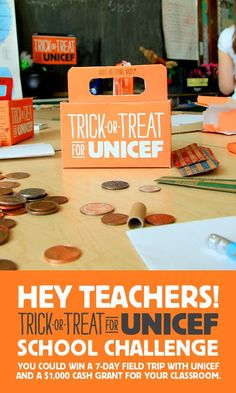 Inspire your kids to do good, and have fun! Trick or Treat for UNICEF