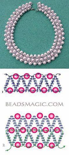 Pearl Lights Ideas Farbideen Schmuck s. - Pearl Lights Ideas Farbideen Schmuck selber machen The - Seed Bead Jewelry, Bead Jewellery, Jewelery, Bead Earrings, Seed Beads, Beaded Necklace Patterns, Bracelet Patterns, Beaded Necklaces, Jewelry Crafts