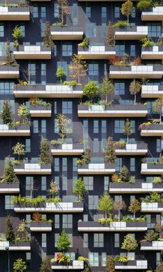 Week Bosco Verticale by Stefano Boeri. Sometimes Architecture can propose a new sustainability building like this example. This vertical garden apartment give some advantageous to the people by the vertical way. Architecture Design, Green Architecture, Facade Design, Sustainable Architecture, Amazing Architecture, Contemporary Architecture, Landscape Architecture, Exterior Design, Landscape Design