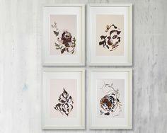 set of 4 artworks wall art set dining room wall art prints