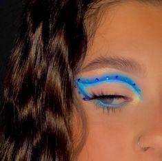 Cute Makeup Looks, Makeup Eye Looks, Eye Makeup Art, Colorful Eye Makeup, Pretty Makeup, Skin Makeup, Beauty Makeup, Indie Makeup, Edgy Makeup