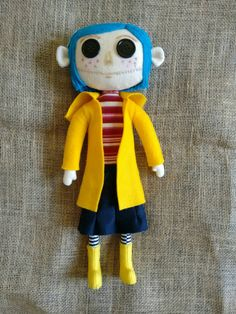 Handmade Coraline Doll  Ships free from London by MoodyVoodies