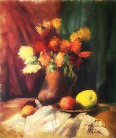 Las Flores siempre alegran los espacios.  Flores impresionistas.   Esta obra y muchas más la puedes encontrar en ArteS.  Si te gusta, comparte la imagen y dale like a nuestra página: https://www.facebook.com/ArteSGaleriaAntiguedades/  Los esperamos en ArteS!!!   Se van a sorprender...