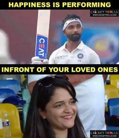 Radhika Rahane reacts after Ajinkya Rahane's 9th Test century #SLvIND #2ndTest For more cricket fun and updates click http://ift.tt/2gY9BIZ - http://ift.tt/1ZZ3e4d