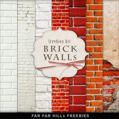 Scrapbooking TammyTags -- TT - Designer - Far Far Hill, TT - Item - Paper, TT - Texture - Brick