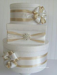 Wedding Card Box Custom Card Box Money Card Box Wedding Card Holder - You customize colors and accessories Wedding Gift Card Box, Money Box Wedding, Gift Card Boxes, Wedding Boxes, Diy Wedding, Wedding Gifts, Trendy Wedding, Wedding Favors, Wedding Cake
