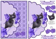 Angel Kitten Envelope Card Front