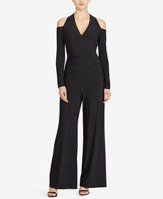 d51a56f5118a Lauren Ralph Lauren Cold-Shoulder Jumpsuit Women - Pants   Capris - Macy s