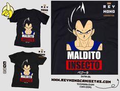 Sólo Pienso En Camisetas: MALDITO INSECTO Dragon Ball, Mens Tops, T Shirt, Sailor Moon Costume, Painted Clothes, Insects, Dragons, Shirts, Moon