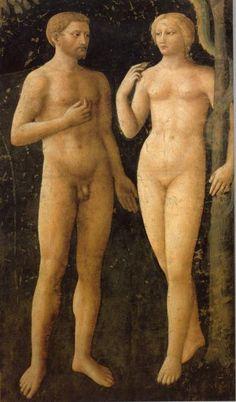 Masaccio, The Temptation, Brancacci Chapel