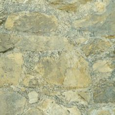 Grey Faux Stone Wall Wallpaper
