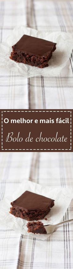 Receita bolo de chocolate