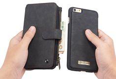 CaseMe 007 iPhone 6S/6 Retro Flannelette Leather Detachable 2 in 1 Wallet Case