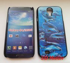 Backcover fürs Samsung Galaxy S4 i9500 3D Motiv Delphine / Cover Case Hülle