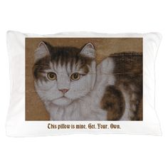 Sitting Cat - Chinese Art Pillow Case