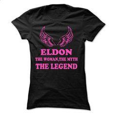 ELDON - The Woman The Myth The Legend - #sweatshirt man #sweatshirt print. PURCHASE NOW => https://www.sunfrog.com/Names/ELDON--The-Woman-The-Myth-The-Legend-49398058-Ladies.html?68278