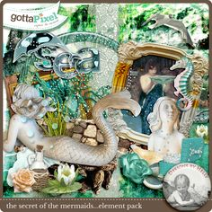 Designer Spotlight & Daily Download 7/20/16 - Gotta Pixel :: The Secret of the Mermaids...the Elements by Designs by Helly