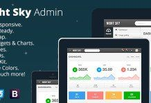 Night Sky - Ultimate Responsive Bootstrap Admin Created: LastUpdate: CompatibleBrowsers: CompatibleWith: Documentation: Unrated HighResolution: Yes Layout: Responsive ThemeForestFilesIncluded: LayeredPSD Tags: admin Template Site, Templates, Jquery Ui, Dashboard Template, Progress Bar, 404 Page, User Interface Design, Ui Kit
