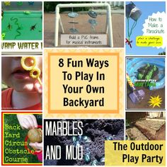 Outdoor Play Party ~ Fun Ways to Play in Your Own Backyard from Kitchen Counter Chronicles