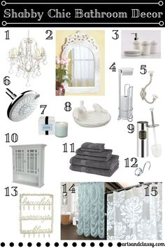 How to Pick Shabby Chic Your Bathroom at www.artsandclassy.com