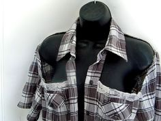 Upcycled shirt plaid shirt country chic crop by Lifeloveandmusic, $35.00