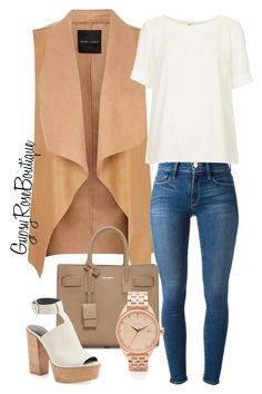 """""""#355"""" by gypsyroseboutique on Polyvore featuring Yves Saint Laurent, Rebecca Minkoff, Frame Denim, Topshop and Nixon"""