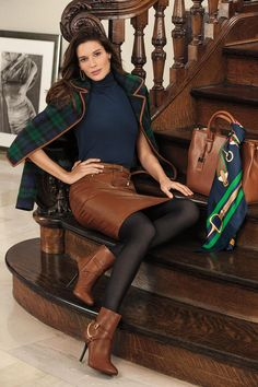 Twitter / RalphLauren: Menswear inspired details from Lauren for fall