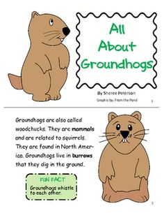 A great little packet to learn all about the groundhog. It includes a 6 page booklet with a glossary and question page. You will get a graphic orga...