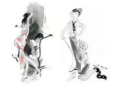 Illustrator: Edmond Kiraz - http://kiraz-artworks.com/fr/menu.html   Via: Cartoon Retro - http://cartoonretro.tumblr.com